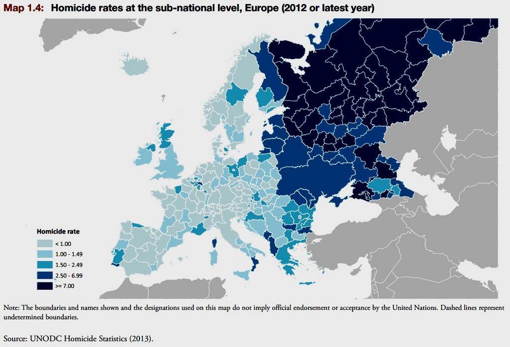 Η άνοδος της εγκληματικότητας στην Ευρώπη
